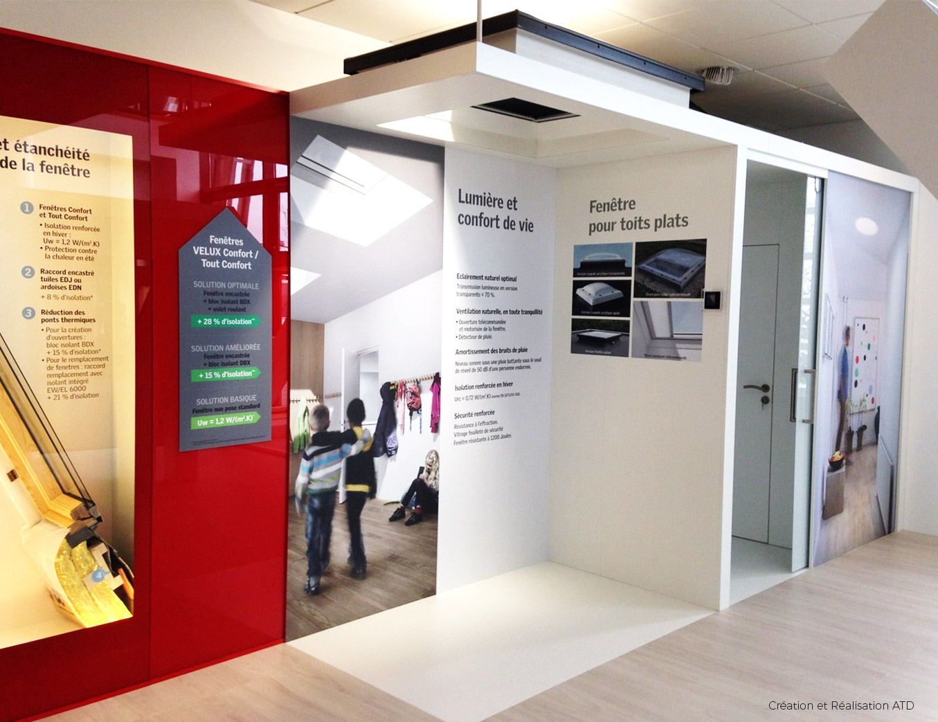 Velux show room alphonse tari design for Agencement de stand